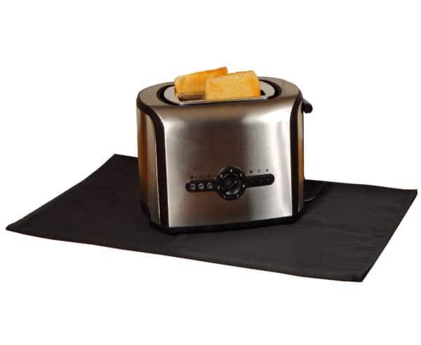 Feuerfeste Unterlage unter Toaster