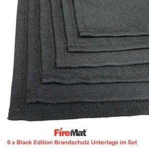 feuerfeste 6er Set Brandschutzunterlagen
