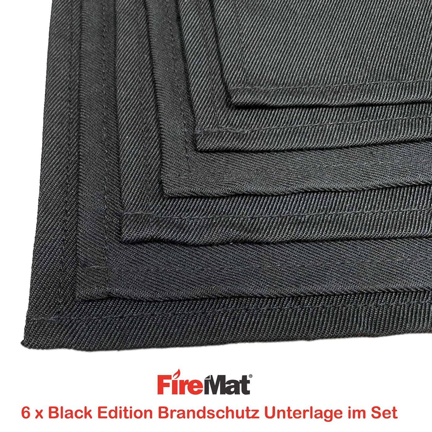 FireMat Black Edition .. Feuerfeste Brandschutz Unterlage für Elektrogeräte